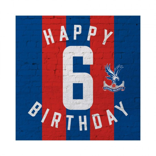 Red & Blue 6th Birthday Card