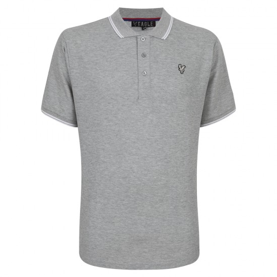 Eagle Grey/White Polo Shirt