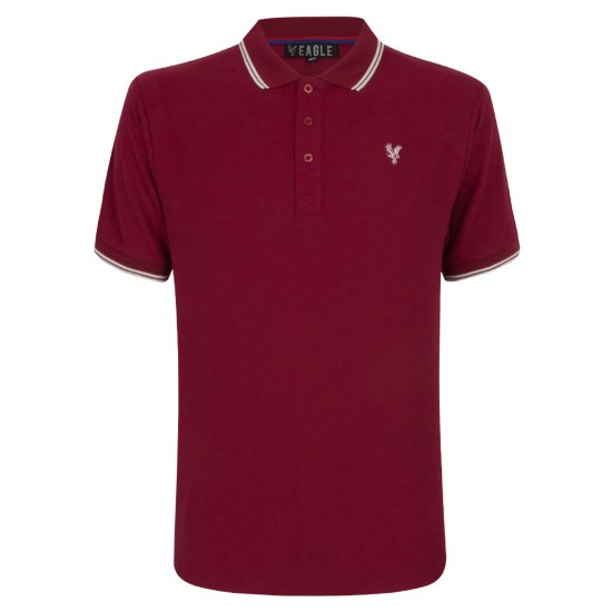 Eagle Burgundy/White Polo Shirt