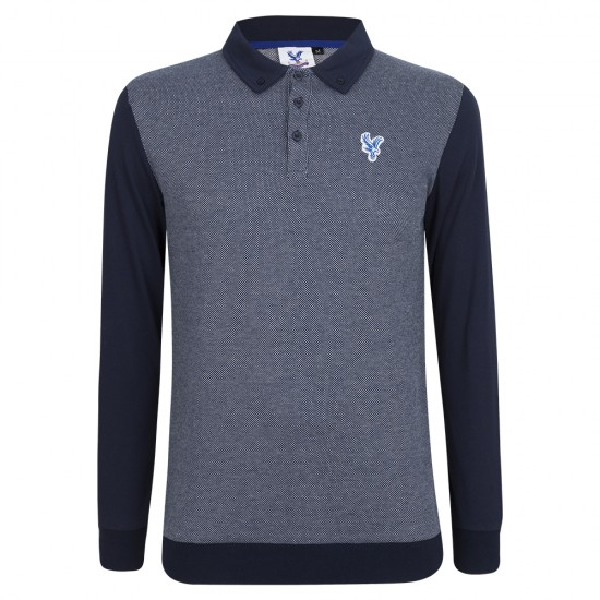 Eagle L/S Navy Polo Shirt