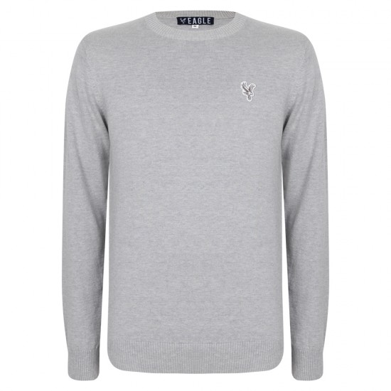 Eagle Grey Crew Knit Jumper