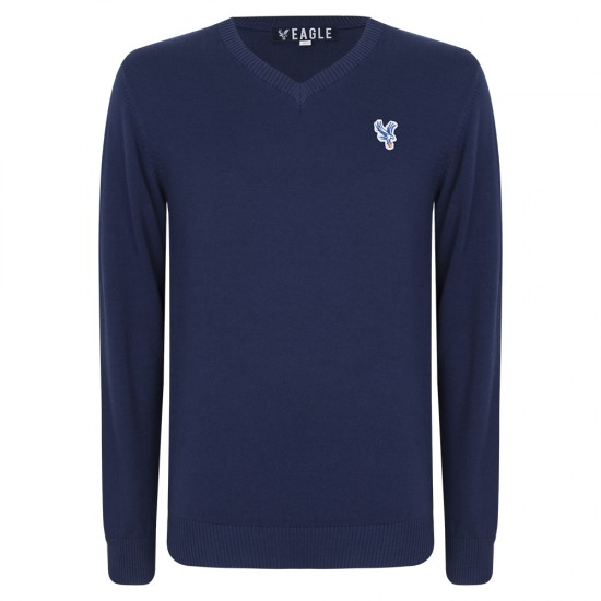 Eagle Navy V Neck Jumper
