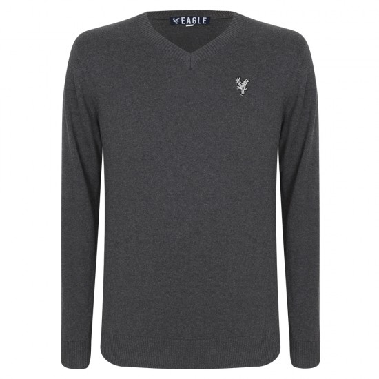 Eagle Charcoal V Neck Jumper