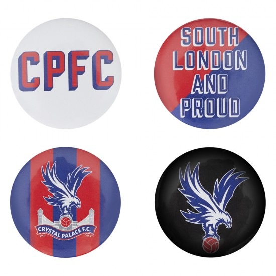 CPFC Button Badges (4 Pack)