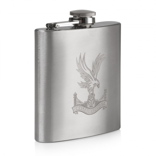 Logo Etched Hip Flask