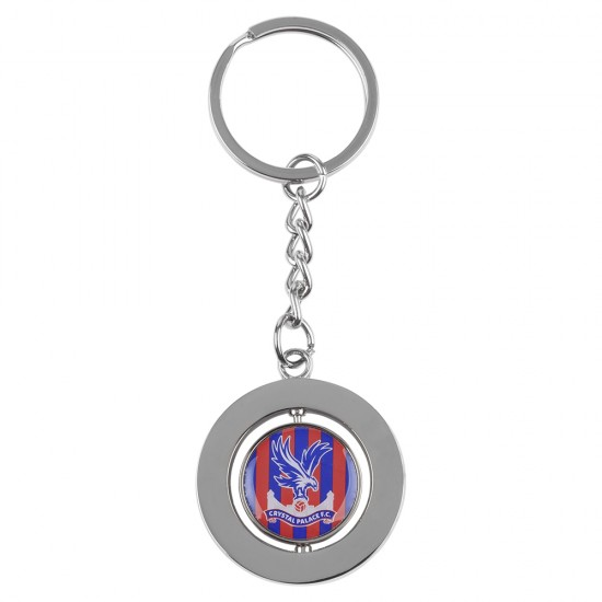 Striped Spinning Keyring