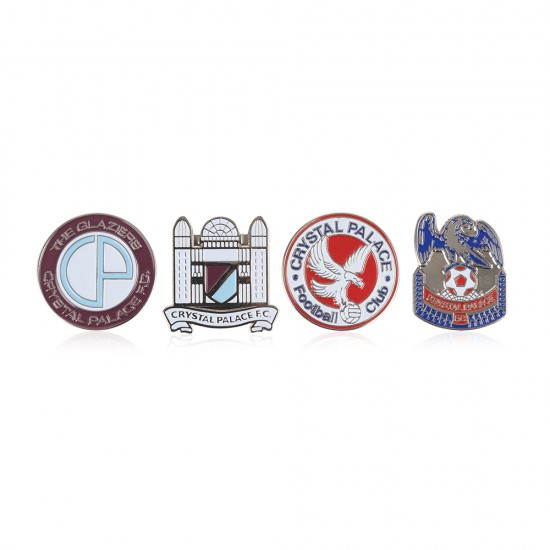 4 Pack Retro Crest Badges