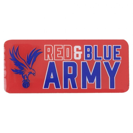Red and Blue Army Badge