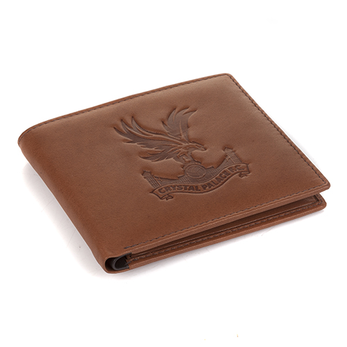 CPFC Embossed Brown Leather Wallet