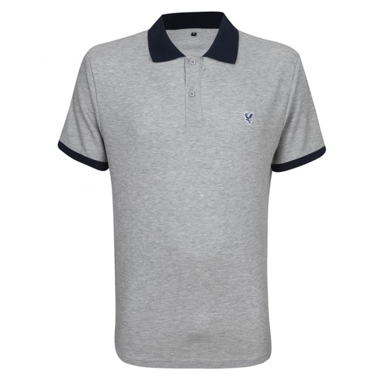 Eagle Contrast Polo Shirt Grey