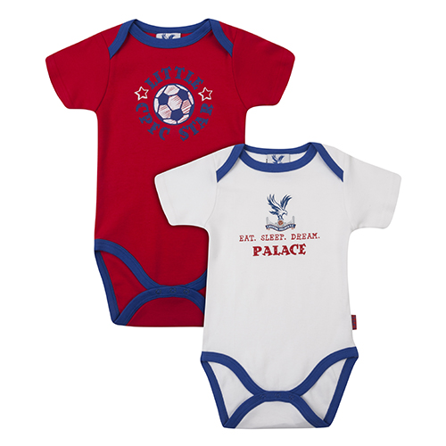 Eaglet Baby Body Suit (2 pack- Red and White)