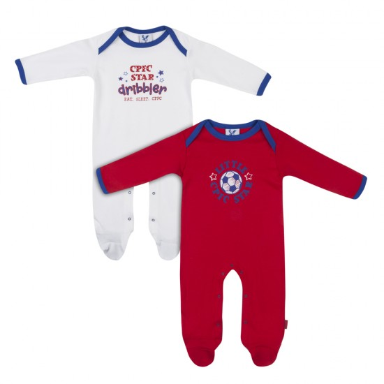 Eaglet Baby Sleep Suit (2 pack - Red and White)