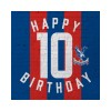 Red & Blue 10th Birthday Card