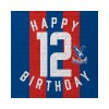Red and Blue 12th Birthday Card