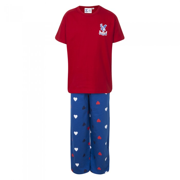 Girls PJ Set Red / Blue
