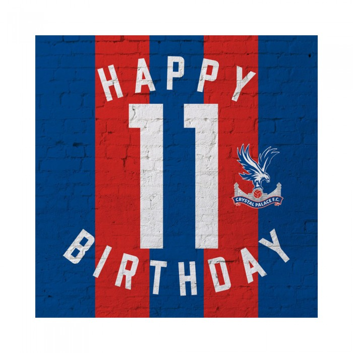 Red and Blue 11th Birthday Card