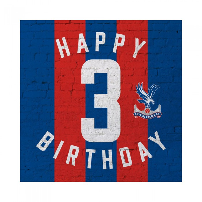 Red & Blue 3rd Birthday Card