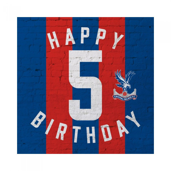 Red & Blue 5th Birthday Card