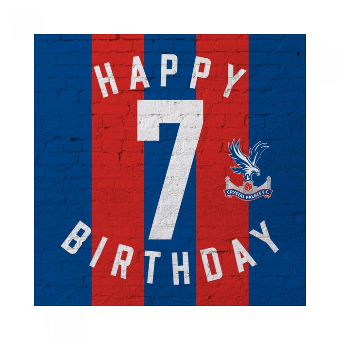 Red & Blue 7th Birthday Card