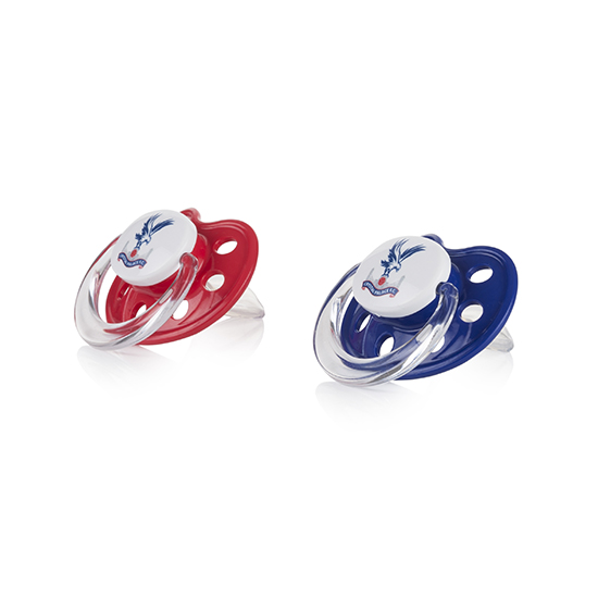 Red & Blue Baby Soothers (2 Pack)