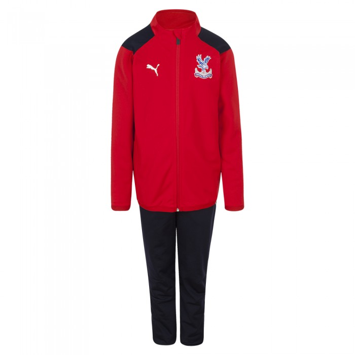 18/19 Travel Tracksuit Red Youth