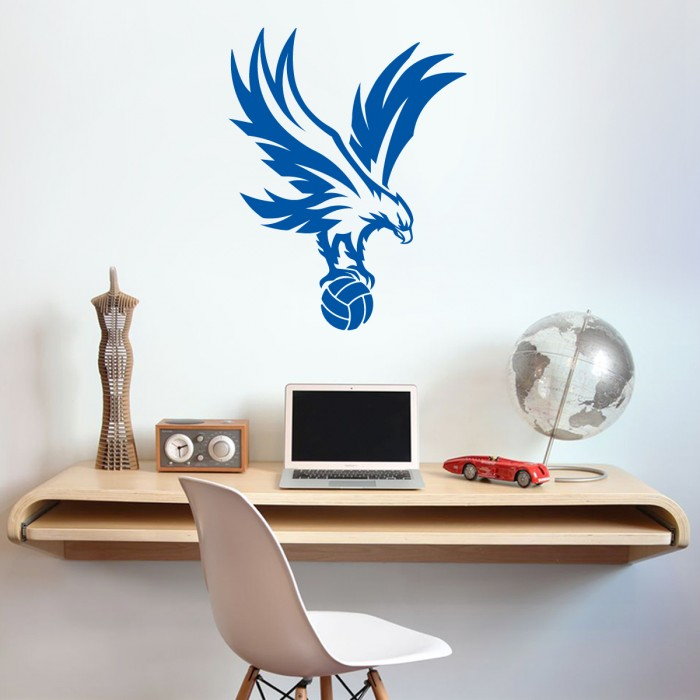 Eagle on Ball Wall Sticker