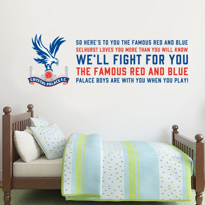 Famous Red & Blue Wall Sticker