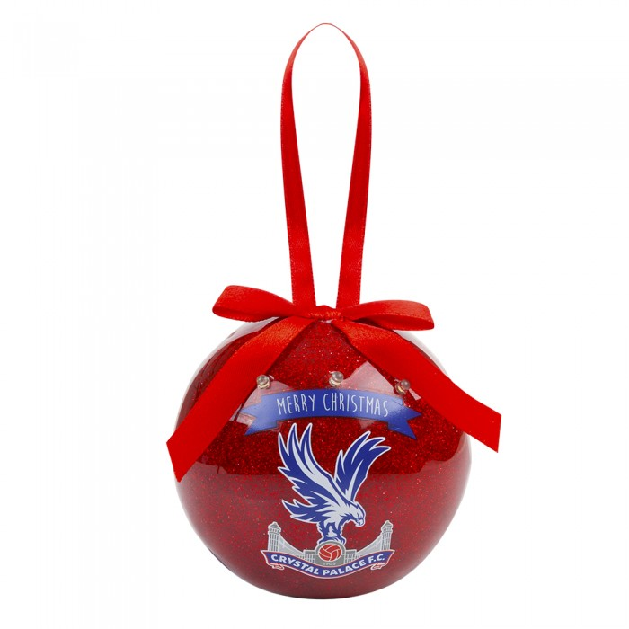 Christmas Red Flashing Glitter Bauble
