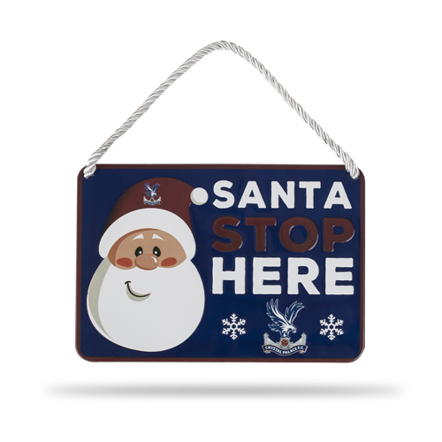 Christmas Santa Stop Here Sign