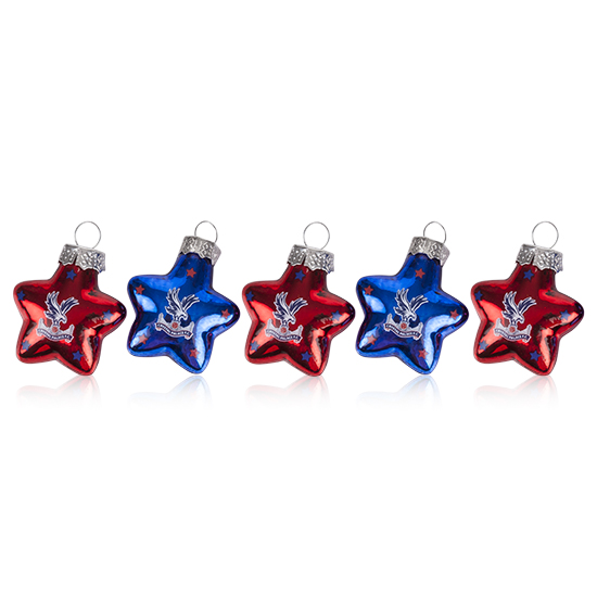 Christmas Star Baubles (5 pack)