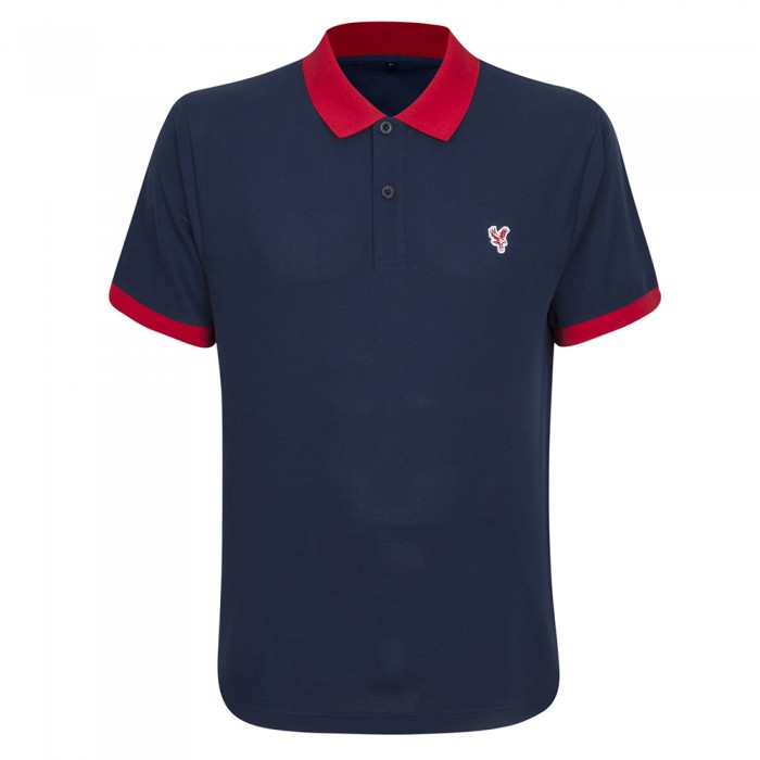 Eagle Contrast Polo Shirt Navy
