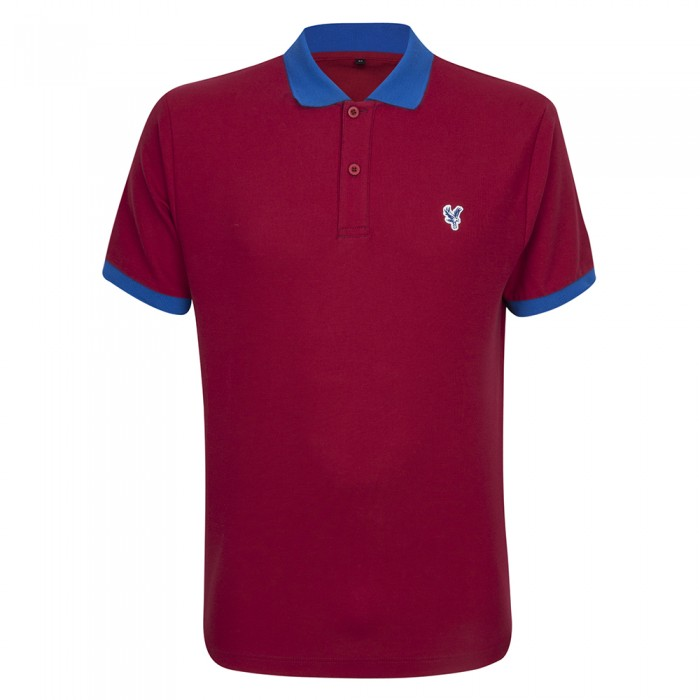 Eagle Contrast Polo Shirt Red