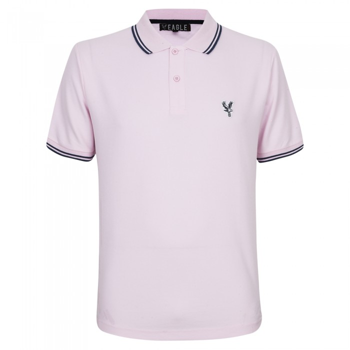 Eagle Polo Shirt Pink/Black