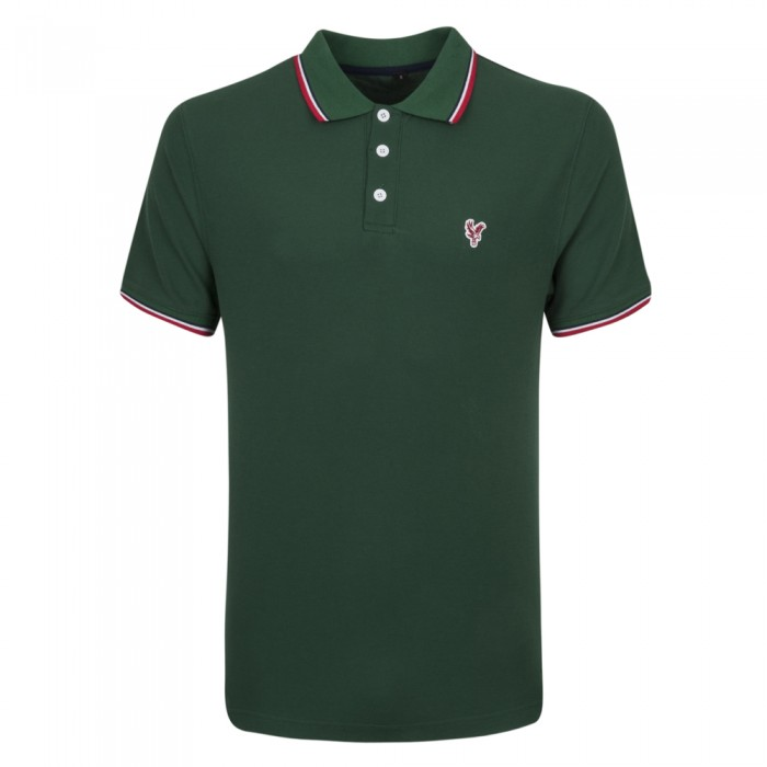 Eagle Tipped Polo Shirt Green