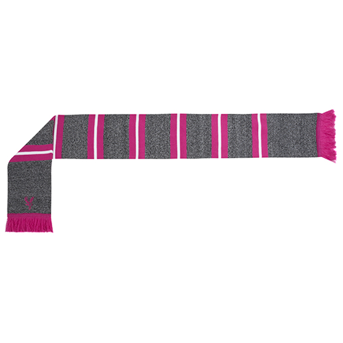 Eagles Knit Scarf Grey Pink