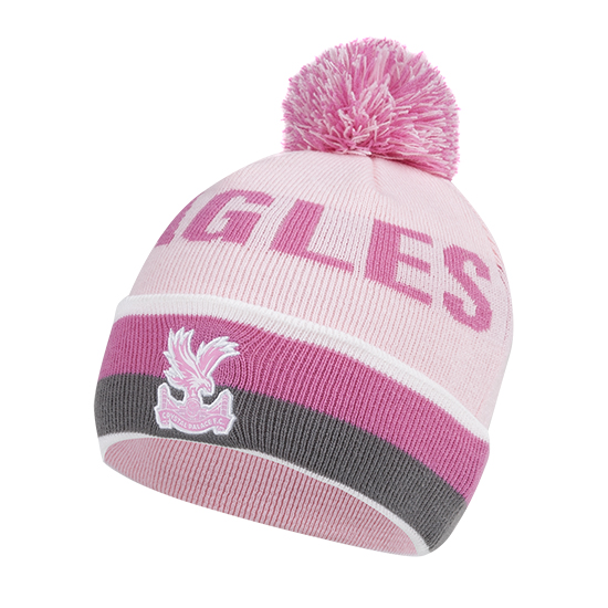 Eagles Text Cuff Beanie Pink